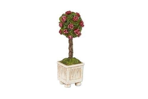 ShopForAllYou Figurines and Statues Mary Engelbreit Fairy Gardens - Rose Topiary - Dollhouse Miniature