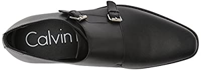 Calvin Klein Men's Robbie Brushed Leather Monk-Strap Loafer