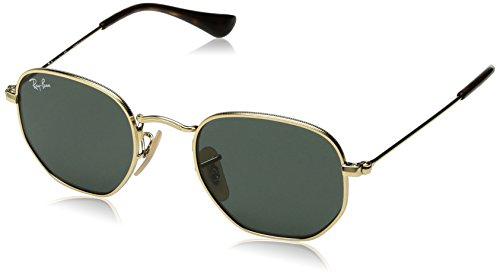 Ray-Ban Junior Kids' 0rj9541sn223/7144junior Hexagonal Square Sunglasses, Gold, 44 - Ray Hexagonal Ban
