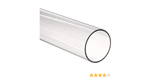 Nominal Clear Acrylic Extruded Tube Round 11.875 Length x 2-1//4 ID 2-1//2 OD 1//8 Wall