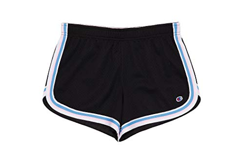 Champion Hertiage Girls Athletic Mesh Shorts, Rich Black, Big Large Size 12/14