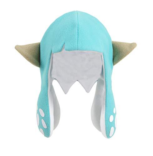 TV Painting Shooting Game Cosplay Wig Cap Hat Players Hair Cap Hat Octopus Cap (Octopus-Cyan, L) -