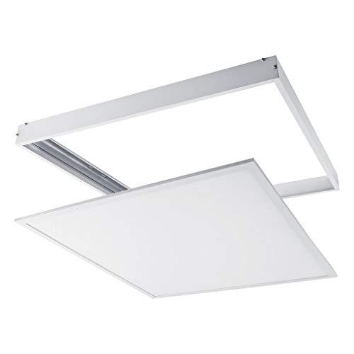 Marco Plateado Paneles LED 60x60cm Superficie