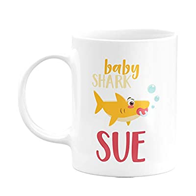 Personalized Shark Family Coffee Mugs with Your Name