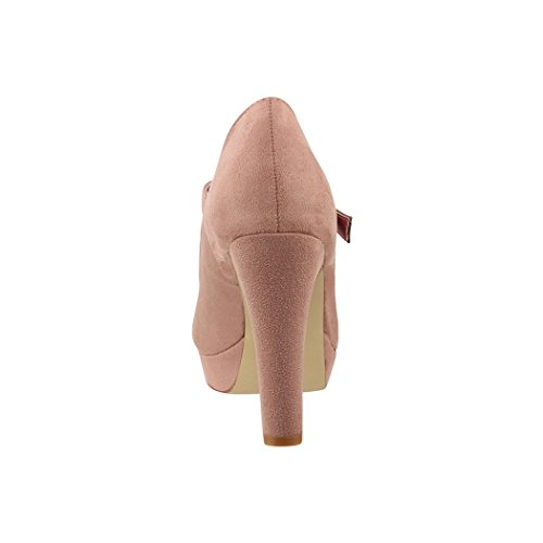 Nude Talons Chaussures Escarpins Plateforme Paris Strap Mary hauts Femmes T talons Elara Janes 18qPRx4wnt