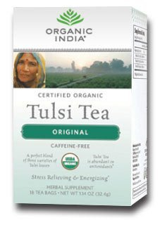 Tea Tulsi Original (Organic India Tulsi Original Tea 18 Bags Per Box 1 Box)