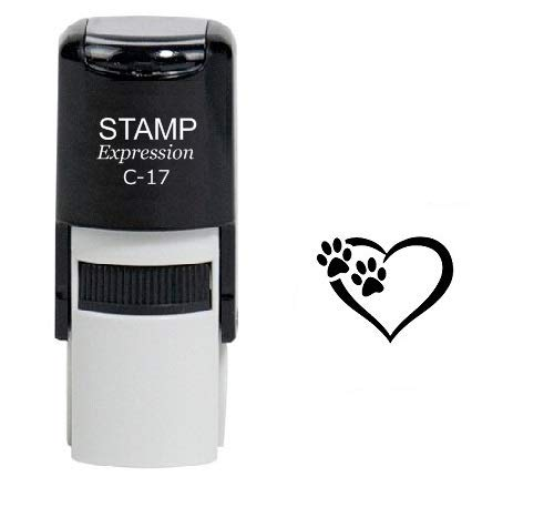 StampExpression - Tiny Paw Prints Dog Lover Self Inking Rubber Stamp - Black Ink (A-6324) -