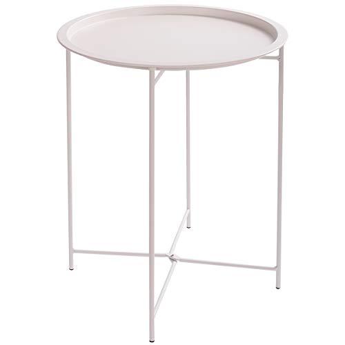 Amazon.com: HollyHOME Folding Tray Metal Side Table, Sofa
