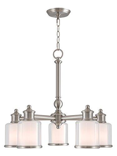 Livex Lighting 40204-91 Middlebush 5 Light BN Dinette Chandelier, Brushed (Dinette Brushed Nickel Chandelier)