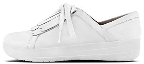 FitFlop Fringe Leather Up White Sneakers Sporty Lace Urban F II rZ1XqHPZ