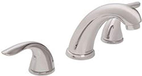 Gerber Plumbing G0043326BN Viper Lavatory Faucet with Metal Touch Down Drain, Mini-Widespread, Two Handles, 1.2 GPM, Chrome, 4.75
