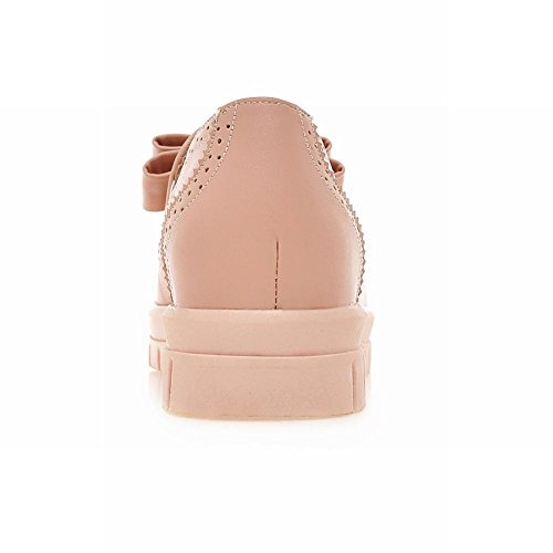 Show Shine Damesmode Sweet Bow Loafer Flats Schoenen Roze