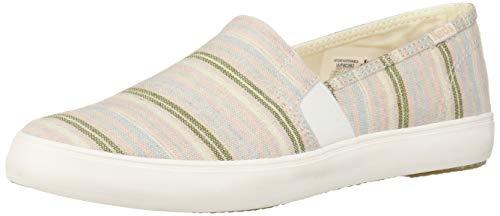 (Keds Women's Clipper Stripe Sneaker, Charcoal, 10)