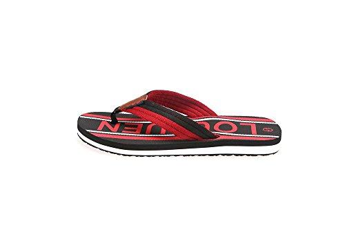 HomyWolf Mens Beach Flip-Flops, Soft Non-Slip Slipper Outdoor Sandals, Black, Size US 7.5 by HomyWolf (Image #4)