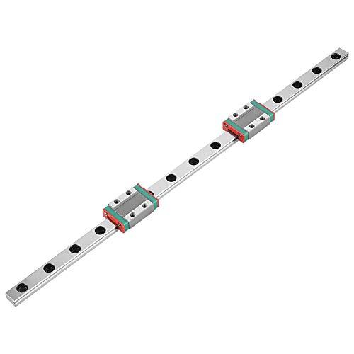 Lineare Bewegungsschiene, MGN9B 300 × 9 mm Lineares Führungsschienenlager Stahlverriegelung Gleitschiene mit 2-teiligem MGN9B-Wagenschienenblock