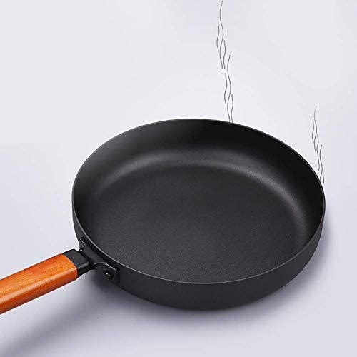 WSJ Cooking Pots Pans Griddle Pan Frying Poils Easy to Clean, Anti-Stick Pan, Multi-Purpose, Pancakes, Barbecue, Induction Pot Anti-Metal Metal Utensil Casserole Poêle à Frire