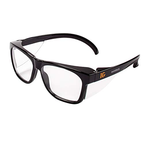 Kleenguard 49309 Maverick Safety Glasses, Black (Pack of 12) (Maverick Glass)