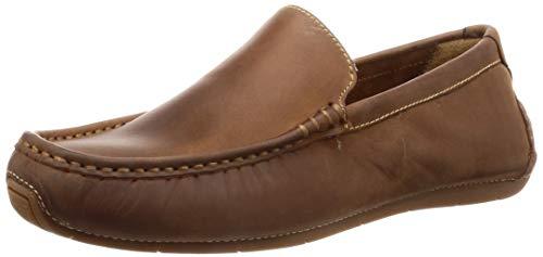 (Cole Haan Men's Somerset Venetian II Loafer, Dark Camel, 8.5 Medium US)