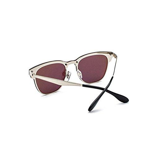 Aoligei Lunettes de soleil boîte style une personnalité sans lunettes de soleil frontière conduite marée couleur lumineuse lunettes de soleil etWsEsk42