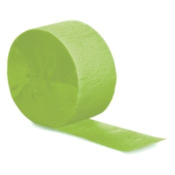 """[2 Set Multi Pack] Crepe Paper Streamer Roll """"Neon Design"""" for Decoration and Craft Supply with 81 Ft / 24.7 M Length {Lime Green Color}"""