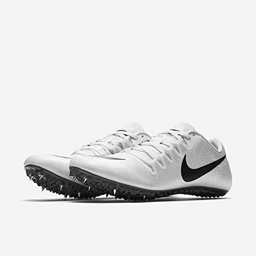 new photos 1b6c1 9500e NIKE Unisex Zoom Sprint Racing Ja Fly 3 Track Spike Shoes, White Black Grey,  Womens Size 10.5 (M) US, Mens 8 (M) US