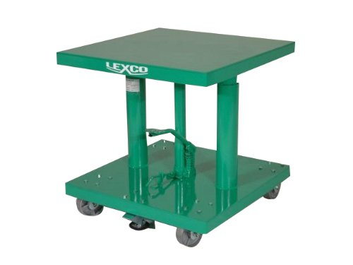 Wesco-Industrial-Products-496037-Steel-Foot-Operated-Hydraulic-Lift-Table-with-Flat-Base-500-lb-Capacity-30-x-20-Tabletop-48-Height