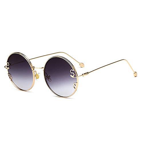 de conduite C1 Lettres plage la Couleur brillants lunettes nouveauté designer décoration d'été colorée unisexes C5 forme ronde pour nuances UV400 soleil vacances lentille Protection métalliques Awq0STw