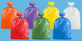 Colored Trash Bags - USA-Made Colorful Trash Bags (10, PURPLE 14 GALLONS)