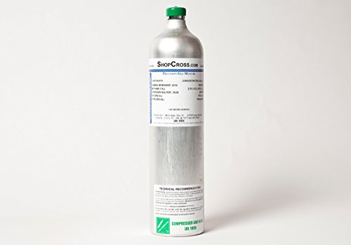 Gasco 58L-M2-100N Precision Calibration Gas 100 ppm Nitrous Oxide, balance Nitrogen 58 Liter