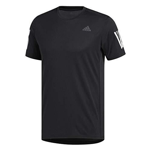 adidas Men's Own the Run Running Tee, Black/White, Medium