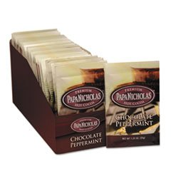 Premium Hot Cocoa, Chocolate Peppermint, 24/carton By: PapaNicholas Coffee