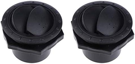 2ピース 排気ベント 丸形ガラリ インテリア 取り付け簡単 ABS樹脂製 丈夫 通気 ブラック