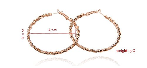Qz New Yellow Gold Screw Thread Lady'scircle Hoop Earrings Er6007