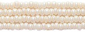 (Preciosa Ornela Czech Seed Bead, True Cut Light Pearl Eggshell, Size 11/0)