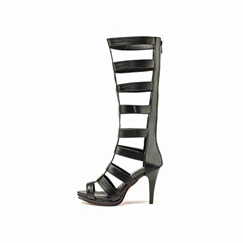 Carolbar Delle Donne Sexy Zip Stile Gladiatore Moda Night Club Tacco A Spillo Stivali Estivi Abito