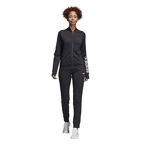 Tuta Nero nero Tracksuit Cotton Adidas New Donna bianco Marker qYSU1nIwxA