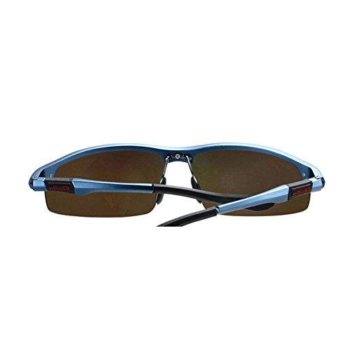 Sol Color Conductor de de de 2 Gafas Polarizadores Sol Sol Gafas de Gafas de Conducir Espejo DT Gafas Hombres Conducción 3 para de Rana 1faxZXCqwn