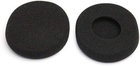 1ピース耳パッドソフトフォームノイズ分離交換イヤフォンカバーヘッドフォンクッションロジクールH800黒