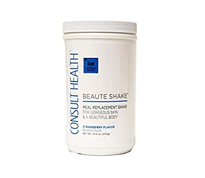 Consult BeauteTM Beaute ShakeTMMeal Replacement Shake for Gorgeous Skin & a Beautiful Body Strawberry Flavor 16.5 oz