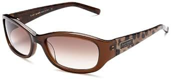 Kate Spade Women's Dee Plastic Sunglasses,Dark Brown Frame/Brown Gradient Lens,one size
