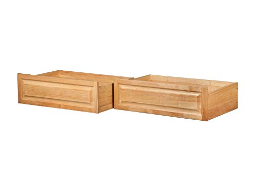 Atlantic Furniture Raised Panel Storage Drawers (Set of 2) - Twin/Full - Natural Maple