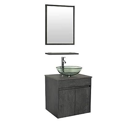 "eclife 24"" Wall Mounted Bathroom Vanity Sink Combo E03CC"
