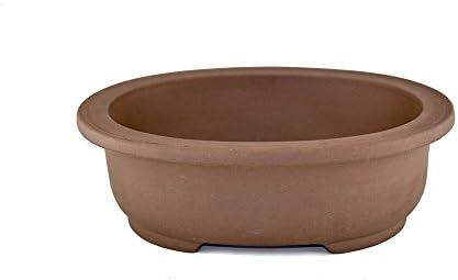 Unglazed Large 13 Oval Shallow Yixing Zisha Ceramic Porous Bonsai Pot PB16-2
