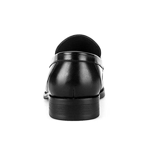 Rutschen schwarz Mode Shoes Casual Schwarzbraun Leather Men's Hochzeit Herbst Dress Business 7Ca4wx8v