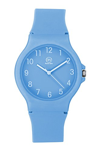 light blue silicone watch straps - 3
