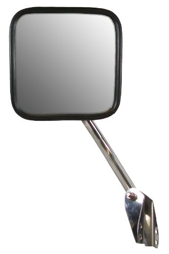 CIPA 44551 Jeep CJ OE Style Manual Stainless Steel Replacement Passenger Side Mirror