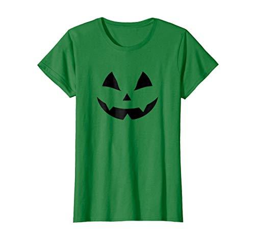 Womens Jack O' Lantern Pumpkin Halloween Costume T-Shirt Funny Large Kelly Green -