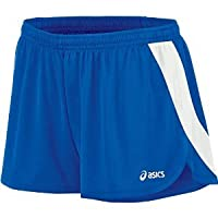 ASICS Womens Break Through 1/2 split short, Royal/White, X-Large