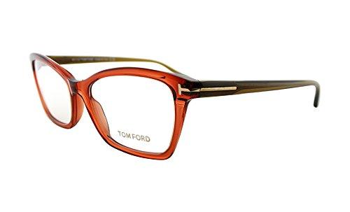 Tom Ford FT 5357 042 Transparent Brown Plastic Eyeglasses - Tom Reading Ford Women Glasses For