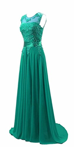 Chiffon Ballkleid Abendkleid Kmformals Grün Langes Party Damen wC5qxAqI1g